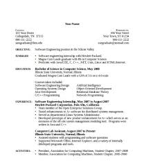 Sample Resume Computer Science by Computer Science Internship Resume Sample Resume Cover Letter Format