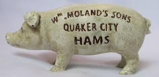 cast iron piggy bank vintage style pig hog farm animal barn