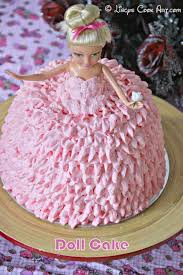 doll cake barbie cake strawberry cake with whipped cream