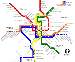 Metro Map New York by Metrorail Washington Metro Map United States