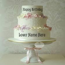 wedding cake name write name on flower wedding birthday cake for lover