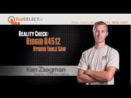ridgid 13 10 in professional table saw ridgid 10 13 professional table saw r4512 real world review