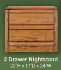 waterbed lajolla oak 2 drawer nightstand lajolla collection oak
