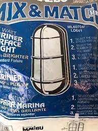 Malibu Solar Fence Lights by Intermatic Ml60704 Ld641 Malibu Mariner Surface Light Uses 7 Watt