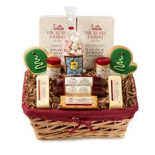 sausage and cheese gift baskets hickory farms family celebration deluxe basket hickory farms