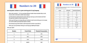 writing french numbers worksheet france languages eal