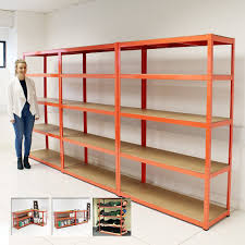 set 3 heavy duty 5 tier shelf shelving units garage storage