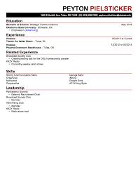 Resume Source Tulsa Peyton Pielsticker Writing Samples Multimedia Resume