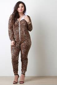cheetah jumpsuit cheetah zipper hoodie jumpsuit collective fab