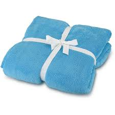 solid cozy fleece throw turquoise by room it up free shipping