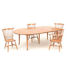 Maple Chairs Ethan Allen Maple Drop Leaf Dining Table And Chairs Ebth