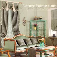 luxury embossed retro window curtains no valance