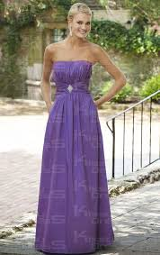 violet bridesmaid dresses cheap a line strapless empire floor length purple