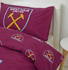 West Ham Double Duvet Cover West Ham United Fc West Ham United Double Duvet Set Claret New