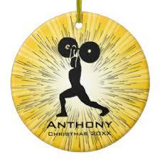 weightlifting ornaments keepsake ornaments zazzle