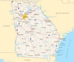 State Of Georgia Map by Georgia Reference Map U2022 Mapsof Net