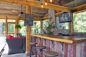Outside Kitchen Cabinets Chic Outdoor Kitchens And Bar Design In Country Rustic Style