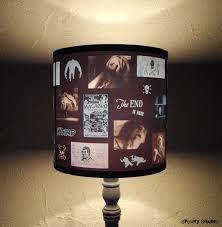 blue horror lamp shade lampshade unique lighting halloween