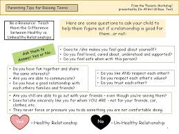Healthy And Unhealthy Relationships Worksheets Imallgirl Com Parents Page