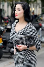 houndstooth dress 50s ethel houndstooth swing dress