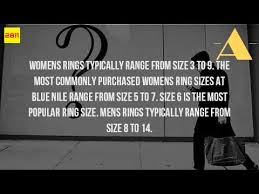 womens ring size what is the most common womens ring size