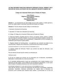 formato de pago de tenencia en chispas 2015 calaméo código de la hacienda pública para el estado de chiapas