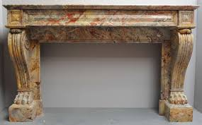 a 19th c french empire sarrancolin marble fireplace mantel