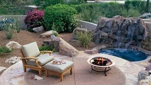 Front Yard Desert Landscape Mediterranean Exterior Patio Ideas And Designs Sunset