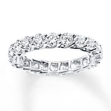 eternity rings diamonds images Diamond eternity ring 2 ct tw round cut 14k white gold jpg