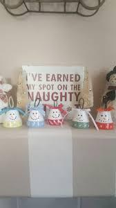 christmas home decor snowman clay pots snowman decor