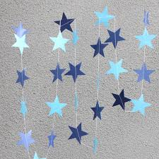 how to make birthday decoration at home hot sale 5pcs lot long 4m colorful star shaped hanging paper
