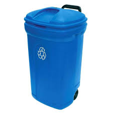 Large Kitchen Trash Can With Lid by Locking Lid Garbage Can 34 Gal Wheeled Outdoor Trash Can Locking