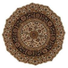Brown And Black Rugs Round 7 U0027 And Larger Round Area Rugs Rugs The Home Depot