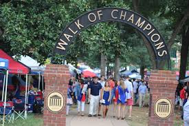 Ole Miss Campus Map The Walk Of Champions In The Grove At Ole Miss In Oxford Ms The