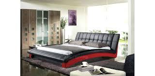 Custom Platform Bed Modern Black Red Platform Bed Custom Order Full Size Vita