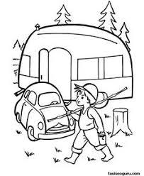 happy campers coloring book blank thaneeya printables