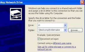 use map drive how to map a drive in windows