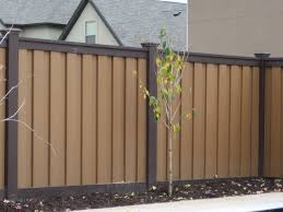trex seclusions woodland brown fence retaining wall pinterest