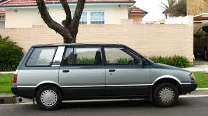 mitsubishi hatchback 1980 aussie old parked cars 1984 mitsubishi nimbus glx