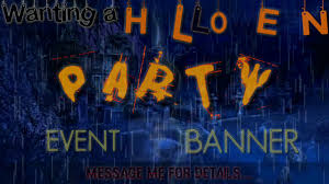 halloween party facebook banner youtube