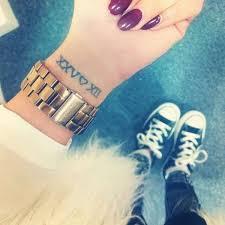 roman numeral wrist tattoo ideas new roman numeral wrist tattoo
