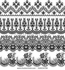 vector set baroque ornaments style stock vector