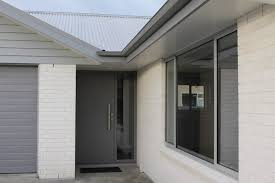delightful home exterior decoration using white grey outdoor color