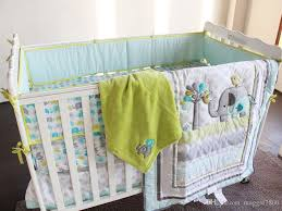 Crib Bedding Boys Cater Crib Baby Bedding Blanket Set Embroidery Elephant Bird Baby