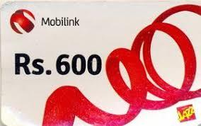 phonecard rs 600 mobilink calling card mobile pakistan