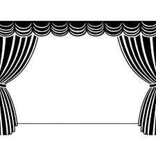 White Black Curtains Stage Black Curtains Curtain Best Ideas