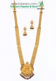 necklace earrings chain images 22k gold 39 6 in 1 39 double side 39 lakshmi long necklace drop jpg