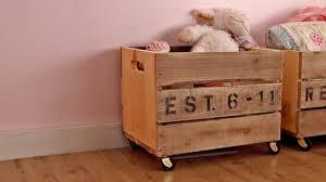 Build A Toy Box Out Of Pallets by Ana White Vintage Crate Carts Diy Projects