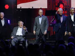 first five presidents 5 former presidents appear together for hurricane relief
