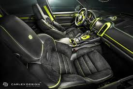 porsche cayenne interior porsche cayenne gets acid green interior makeover by carlex design